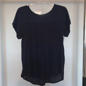LOFT navy blue blouse size M